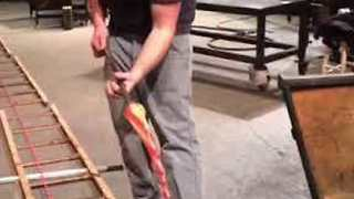 Glassmakers Demonstrate How to Create Candy Canes - Video