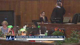 Prosecution rests case in Haeggan-Brown trial - Video