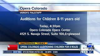 Opera Colorado holding auditions for small roles for children - Video