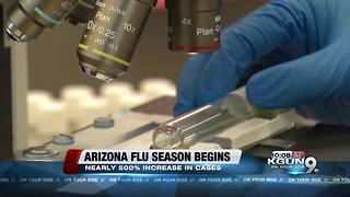 Spike in flu cases in Pima County, new report shows vaccine 10% effective - Video