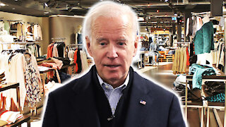 JOE BIDEN GETS LOST IN THE LADIES DEPARTMENT