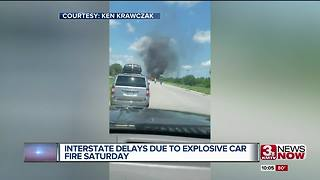 Fiery crash on interstate 29