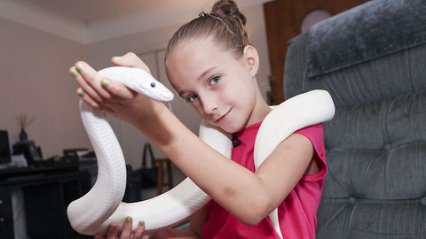 Nine-Year-Old Girl Is An Avid Snake Handler