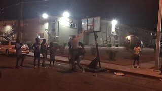 Caught on Camera: Las Vegas police smooth dunk
