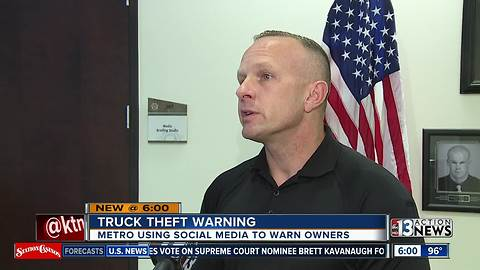 Las Vegas police warning owners of specific Ford vehicles after spike in reported thefts