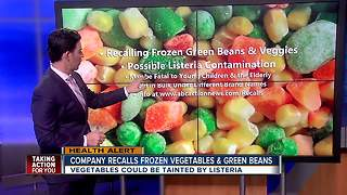 Certain brands of frozen green beans, mixed vegetables recalled due to health risk