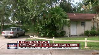 Lakeland girl dies from possible CO poisoning - Video
