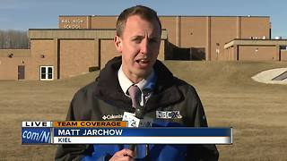 Police say no evidence of shots fired at Kiel High School; no injuries - Video
