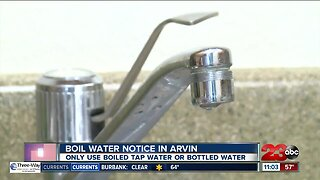 Boil water remains in effect in Arvin
