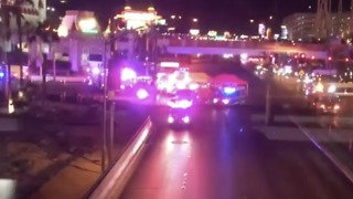 Emergency Services on the Scene of Vegas Mass Shooting - Video