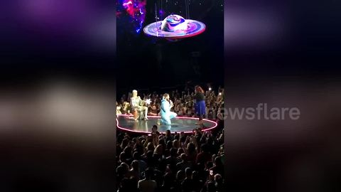 Katy Perry helps fan propose to his girlfriend on stage during Auckland concert