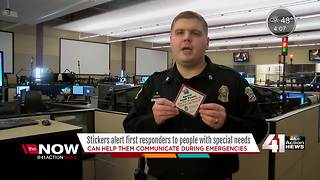 New stickers to alert first responders to people with special needs - Video