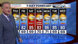 Latest Weather Forecast 11 p.m. Wednesday - Video