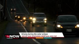 Driving during the solar eclipse - Video