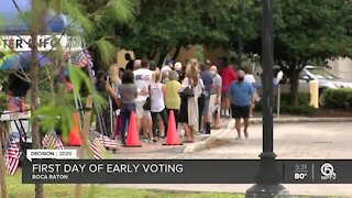 Boca Raton voters experience long lines on first day of early voting