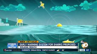 Early warning system for sharks proposed - Video