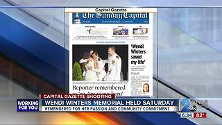 Capital Gazette workers memorialized over weekend - Video