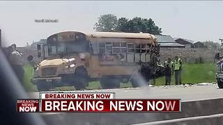 20 hurt after semi hits school bus carrying Milwaukee students near DeForest
