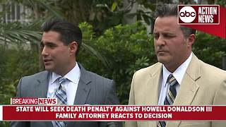 Attorney for family of Howell Donaldson III reacts to state's decision to pursue death penalty - Video