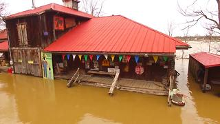 Historic Rabbit Hash, Kentucky floods -- drone video - Video