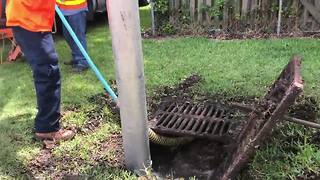City of Tampa uses storm drain vacuums ahead of rain - Video