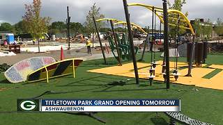 Titletown Park grand opening tomorrow - Video