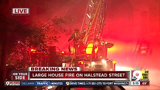 Three-alarm fire in CUF, early Monday morning