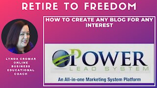 How to create any blog for any interest