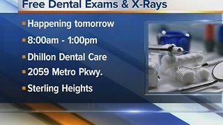 Free dental exams and X-rays at Dhillon Dental Care on Friday