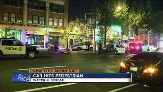 Car hits pedestrian on Water St. - Video