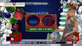 Looking ahead to the Bakersfield Christmas Parade forecast