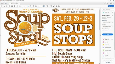 Williamsville Soup Stroll