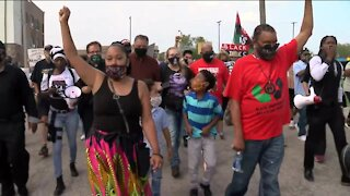 Rev. Jesse Jackson, Jacob Blake family hold march for Breonna Taylor in Kenosha