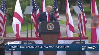 Trump extends drilling moratorium