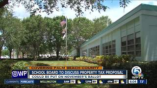 Palm Beach County school board to discuss property tax proposal - Video