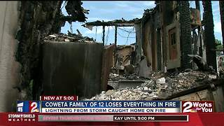 Coweata family of 12 loses everything in fire - Video