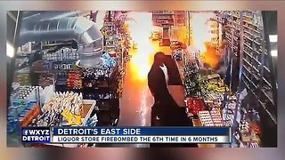 Detroit liquor store firebombed 6 times in 6 months