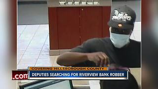 Hillsborough County Sheriff searching for bank robbery suspect - Video