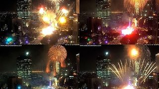 Mexico City Ushers in the New Year With Huge Fireworks Display - Video