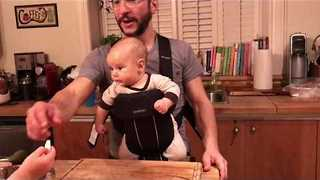 Cool Dad Teaches Daughters to Cook Chicken Hearts - Video