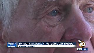 Tears fall and patriotism swells at Veterans' Day parade - Video