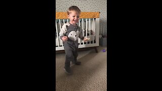 Watch this toddler dance his heart out to 'Lowrider'