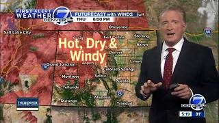 Hot, dry weather across Colorado with record heat possible!
