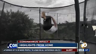 Highlights from home: Sports workouts