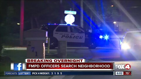 Police searching for suspect in neighborhood near downtown