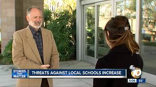 Threats against local schools increase - Video