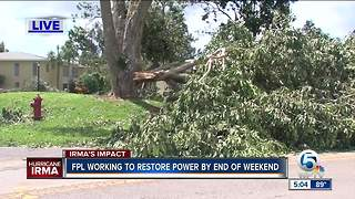 FPL working to restore power by the end of the weekend - Video