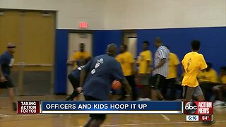 Clearwater police take on summer camp team in game of basketball