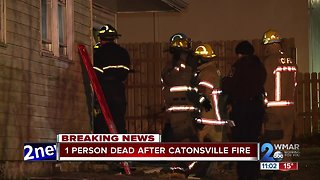 Investigation underway after fire in Catonsville