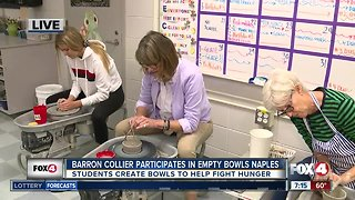 Barron Collier High students create bowls to help fight hunger through local event